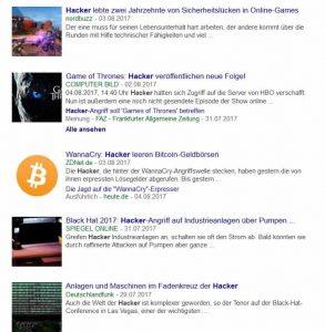 """""""Hacker"""" auf Google News"""