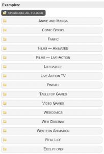 TV Tropes - Beispiele