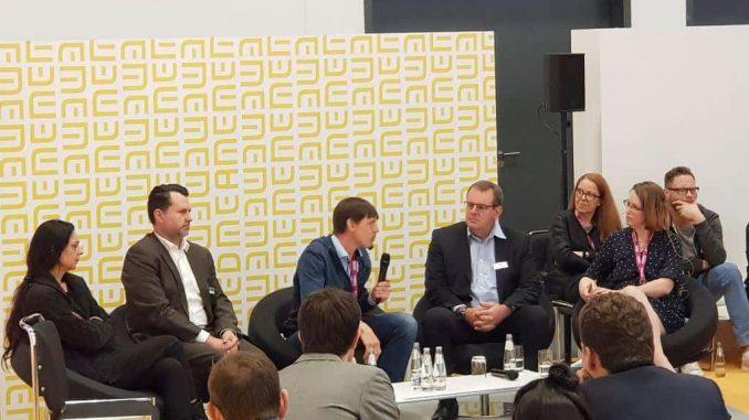 Podiumsdiskussion ePA und Datenschutz auf der DMEA 2019 mit Susanne Mauersberg, Holm Diening, Christian Rebernik und Christof Basener
